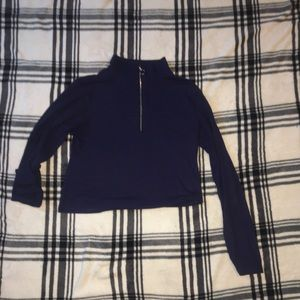 Navy blue zipped long sleeve
